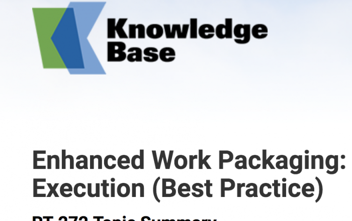 Banner Knowledge Base. Enhanced Work Packaging Execution Best Practice.