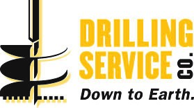 Drilling Service Company Logo. Down to Earth.