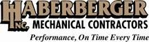 Haberberger Inc. Mechanical Contractors Logo. Performance, On Time Every Time