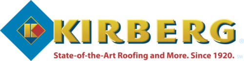 Kirberg Logo. State of the Art Roofing and More. Since 1920.