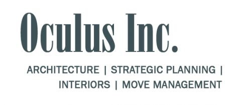 Oculas Inc. Logo. Architecture. Strategic Planning. Interiors. Move Management