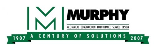 Murphy Mechanical Construction Maintenance Service Design Logo. A Century Of Solutions
