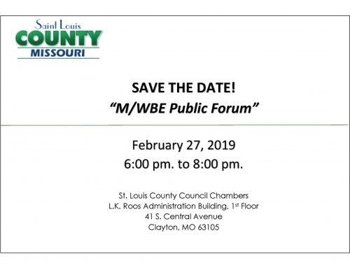 St. Louis County Public Forum Event